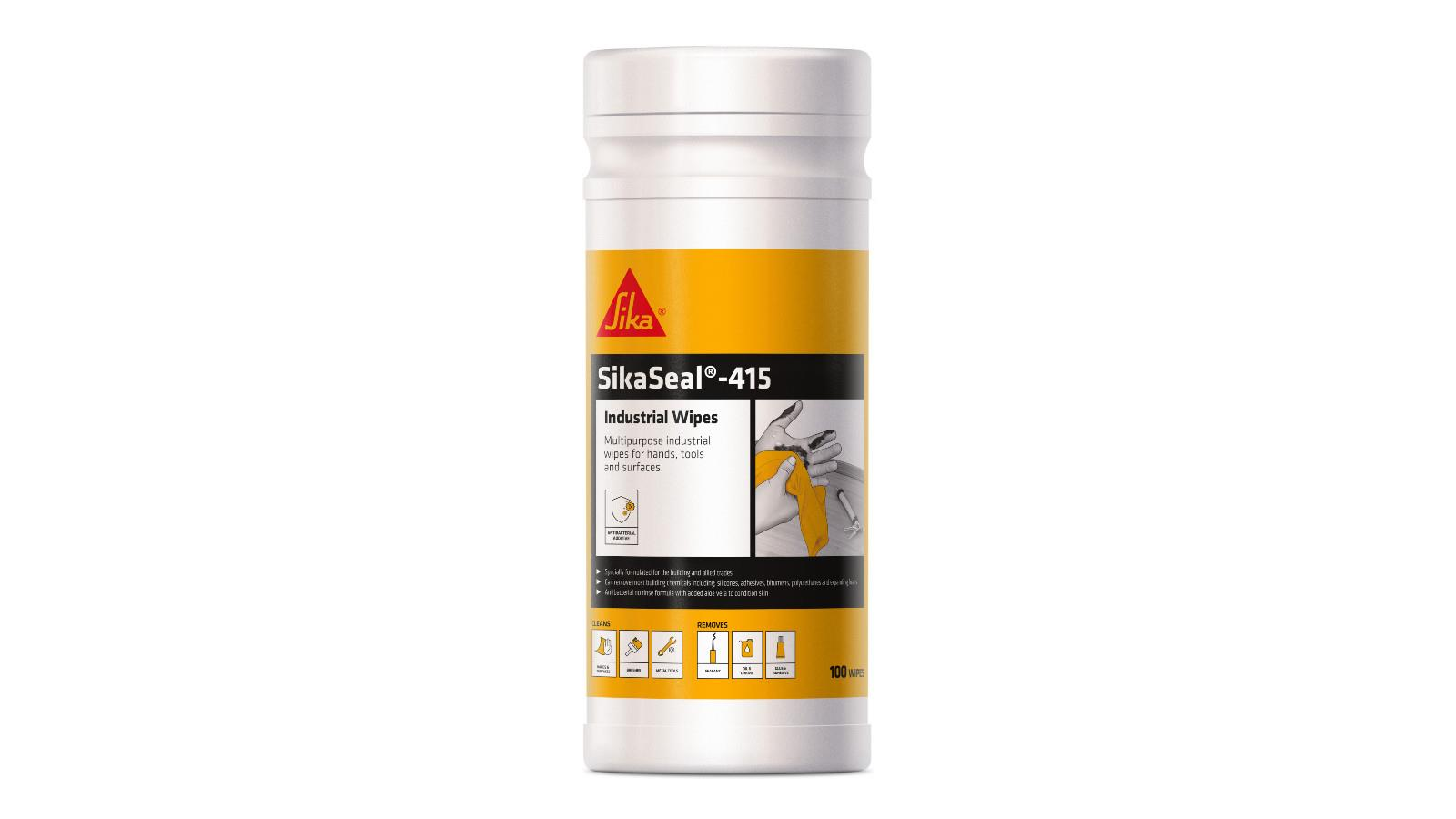 Clean Up with SikaSeal 415 Industrial Wipes image