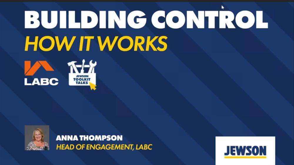 Jewson Toolkit Talks: LABC Tips from the Inside image