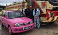 Merchant takes up charity rally challenge image