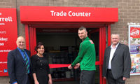 Local sporting hero officially opens renovated James Burrell branch image