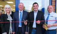 Nigel Clough cuts ribbon on MKM Burton image