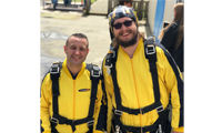 RGB employees take to the sky and raise more than £900 for Exeter Chiefs charity image