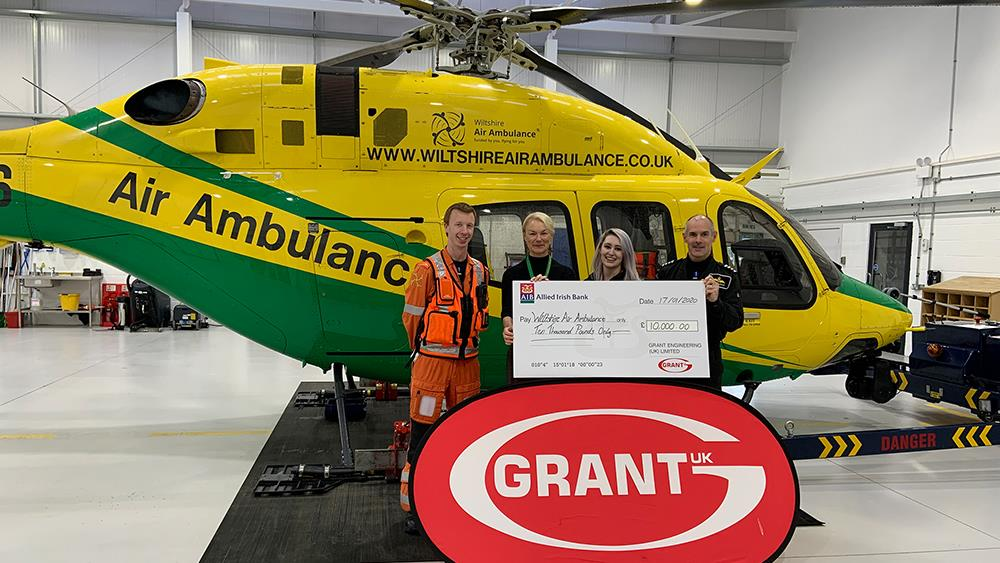 Grant UK donates £10,000 to Wiltshire Air Ambulance image