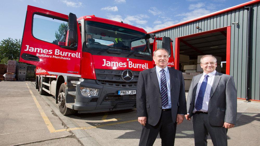 James Burrell Builders Merchants rewards staff after a difficult year image