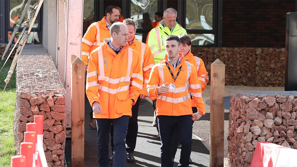 Duke of Cambridge opens Tarmac's new training facility image