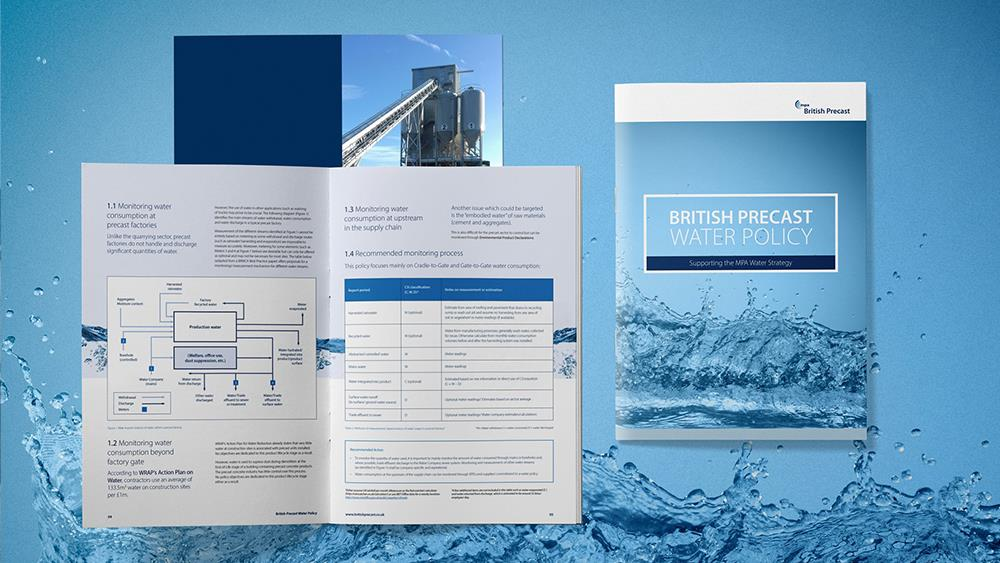 Precast concrete industry body publishes sustainable water policy  image