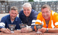 Trio celebrate 60 years' service at Russell Roof Tiles image