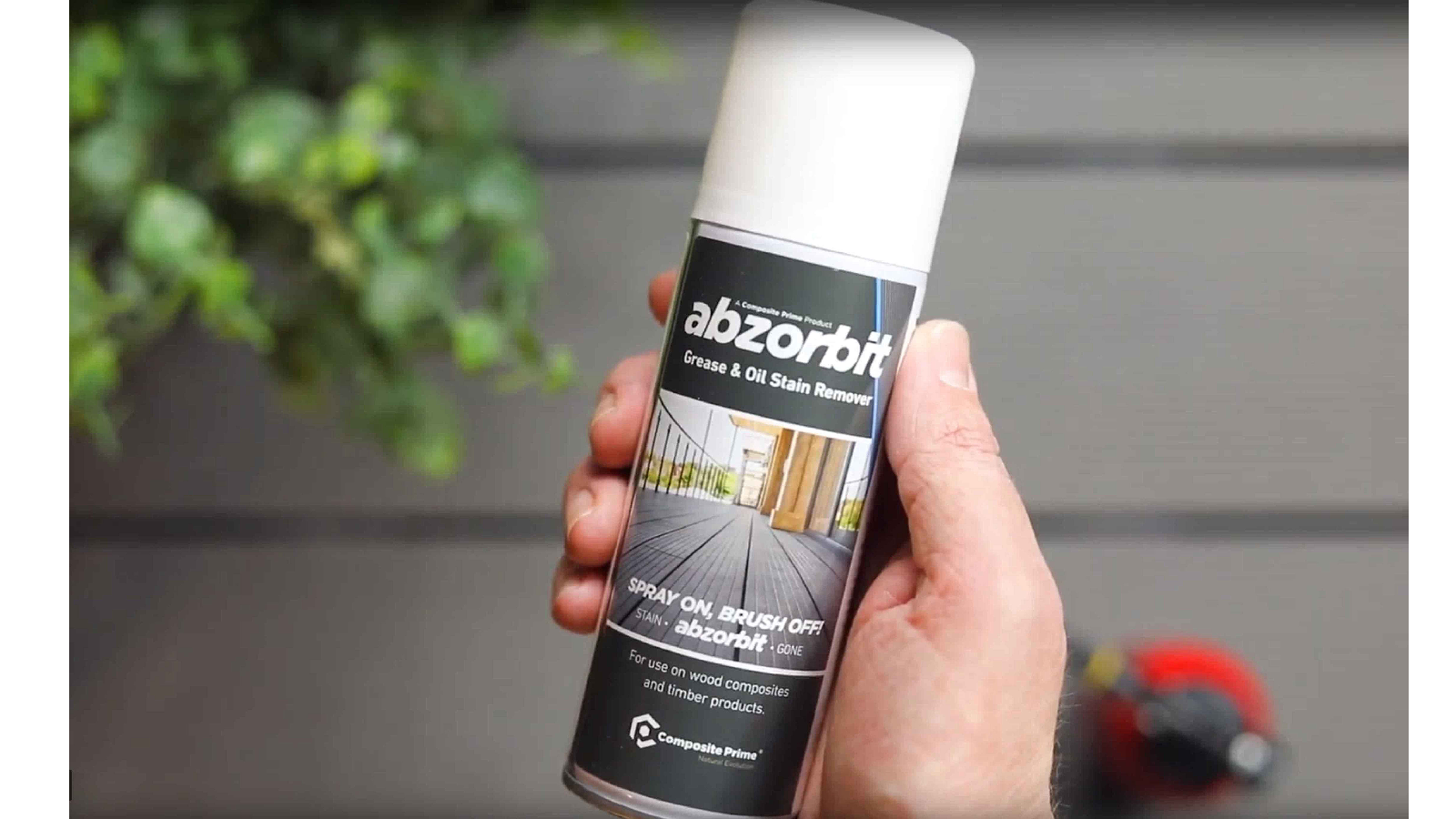 Builders' Merchants News - Composite Prime unveil Abzorbit- a brand new  miracle oil and grease remover for decking.